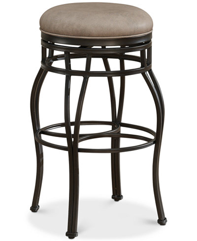 Bella Faux Leather Backless Counter Height Bar Stool, Quick Ship