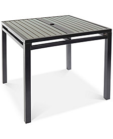 "CLOSEOUT! Aluminum 36"" Square Outdoor Dining Table, Created for Macy's"