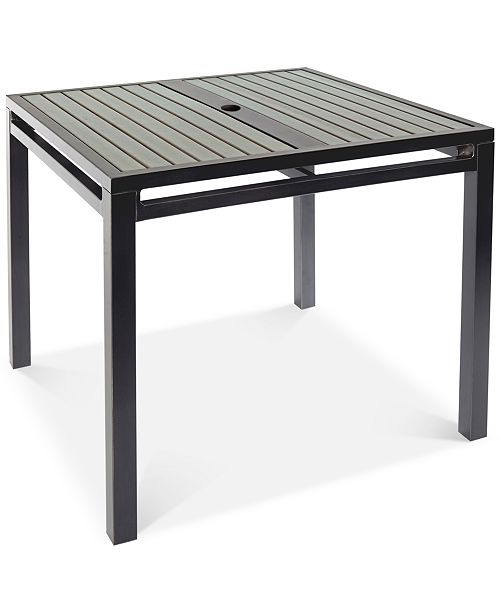 "Furniture CLOSEOUT! Aluminum 36"" Square Outdoor Dining Table, Created for Macy's"
