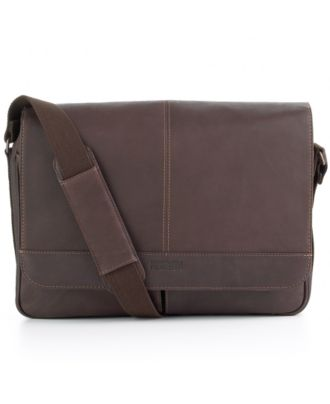 Kenneth Cole Reaction Colombian Leather Single Gusset Messenger Bag
