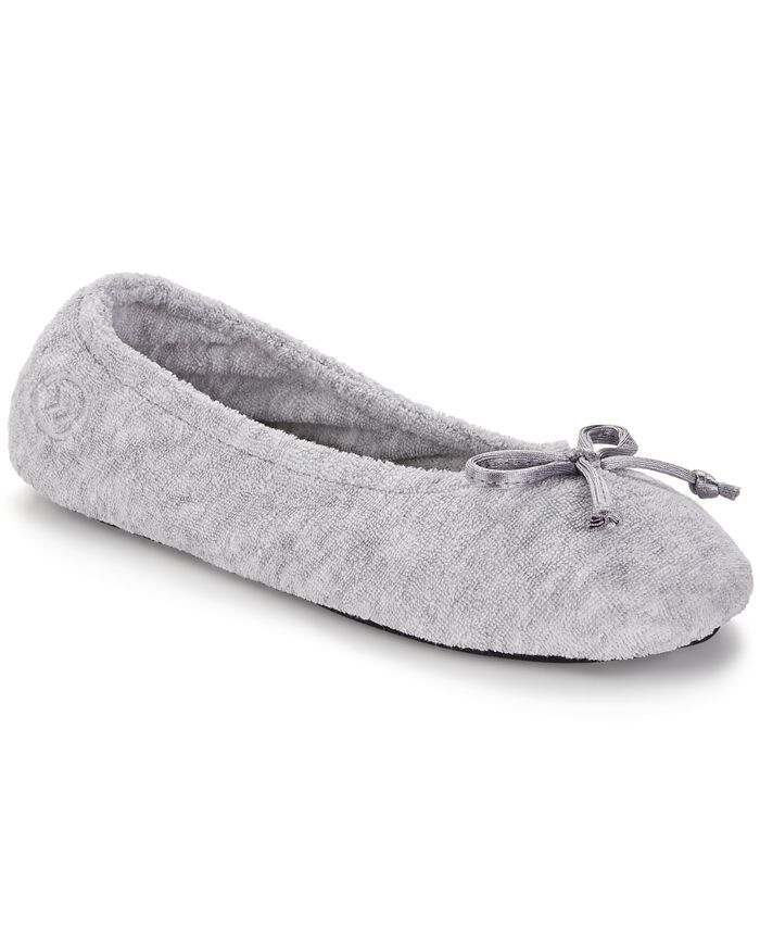 Isotoner Signature - Terry Ballet Flat with Satin Bow