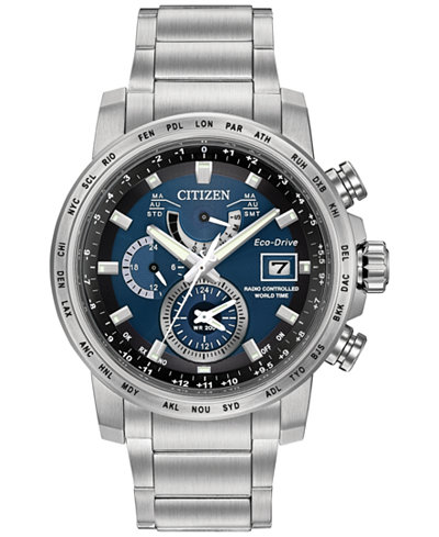 Citizen Men's Eco-Drive Stainless Steel Bracelet Watch 44mm AT9070-51L