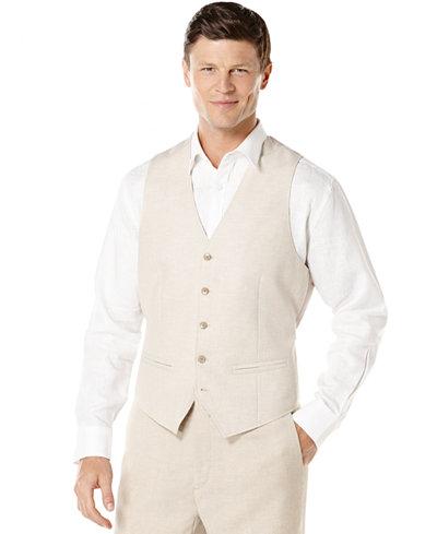 Cubavera Solid Linen-Blend Vest