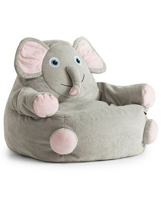 Emerson The Elephant Bean Bag Chair Quick Ship