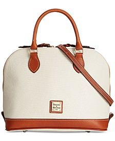 Lizard-Embossed Leather Zip Zip Satchel, Created for Macy's