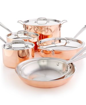 Martha Stewart Collection Tri-Ply Copper 10-Pc. Cookware Set, Created for Macy's 2636812