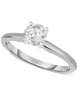 Certified Diamond Engagement Ring in 14k White or Yellow Gold (1 ct. t.w.)
