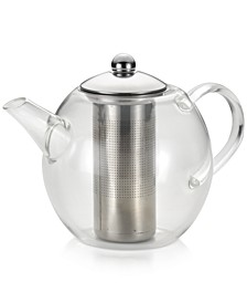Glass Teapot with Shut-Off Infuser