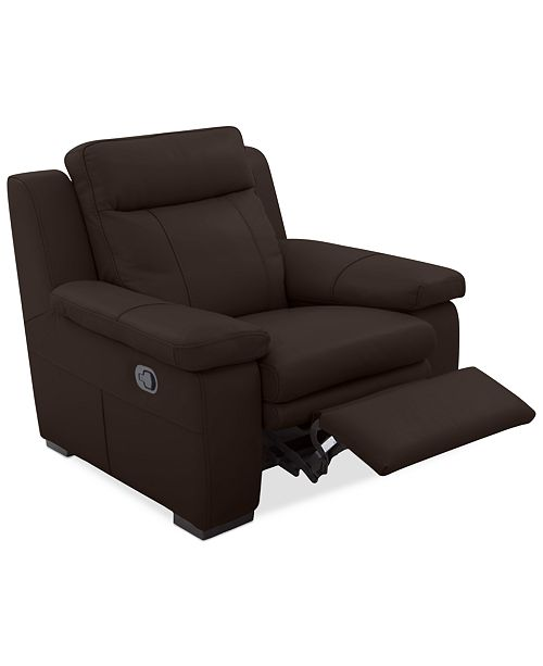 Furniture Closeout Zane Leather Manual Recliner