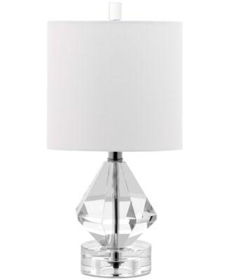 Decoratoru0027s Lighting Dutchess Diamond Accent Crystal Table Lamp