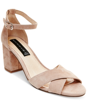 Steven by Steve Madden Voomme Ankle-Strap Block Heel Dress Sandals Women's Shoes -  adult
