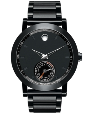 Movado Men's Swiss Museum Sport Motion Black Pvd Stainless