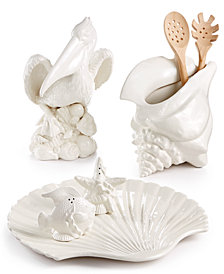 Fitz and Floyd Cape Coral Figural Serveware Collection