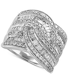 Classique by EFFY® Diamond Wide-Style Ring (1-1/2 ct. t.w.) in 14k Gold or White Gold