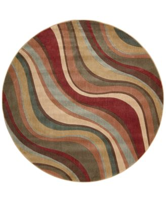 "CLOSEOUT! Somerset Wave 5'6"" Round Rug"