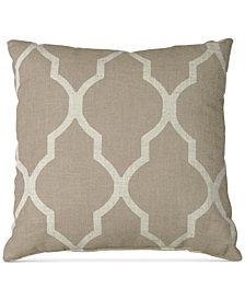"""Elrene Medalia Print Linen Blend 18"""" Square Decorative Pillow"""