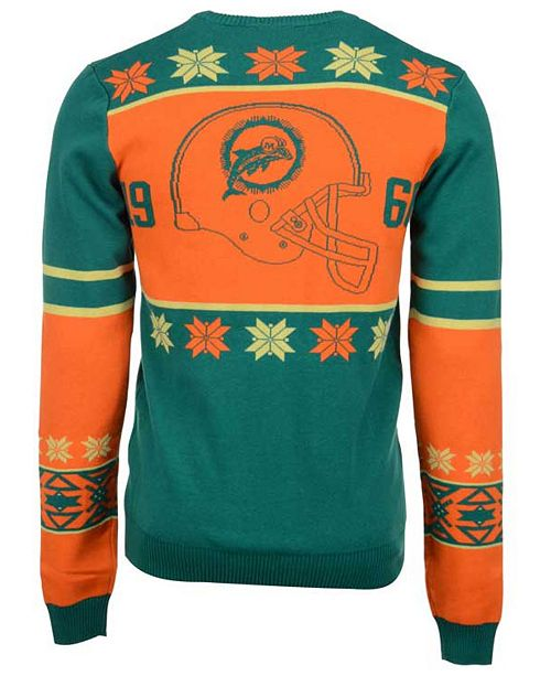 deeb4c7d Forever Collectibles Men's Miami Dolphins Retro Christmas Sweater ...