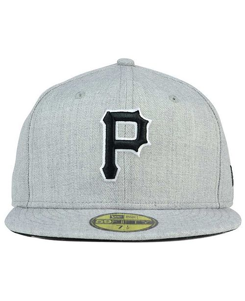 06f8c7295 ... uk new era pittsburgh pirates heather black white 59fifty fitted cap  sports fan shop by lids