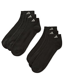 adidas Men's Low-Cut Cushioned Extended Size Socks, 6 Pack