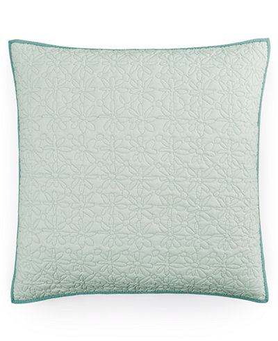 CLOSEOUT! bluebellgray Fern Solid Quilted European Sham
