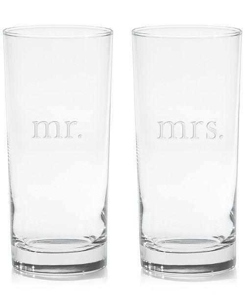Culver Mr. & Mrs. Highball Glasses, Set of 2