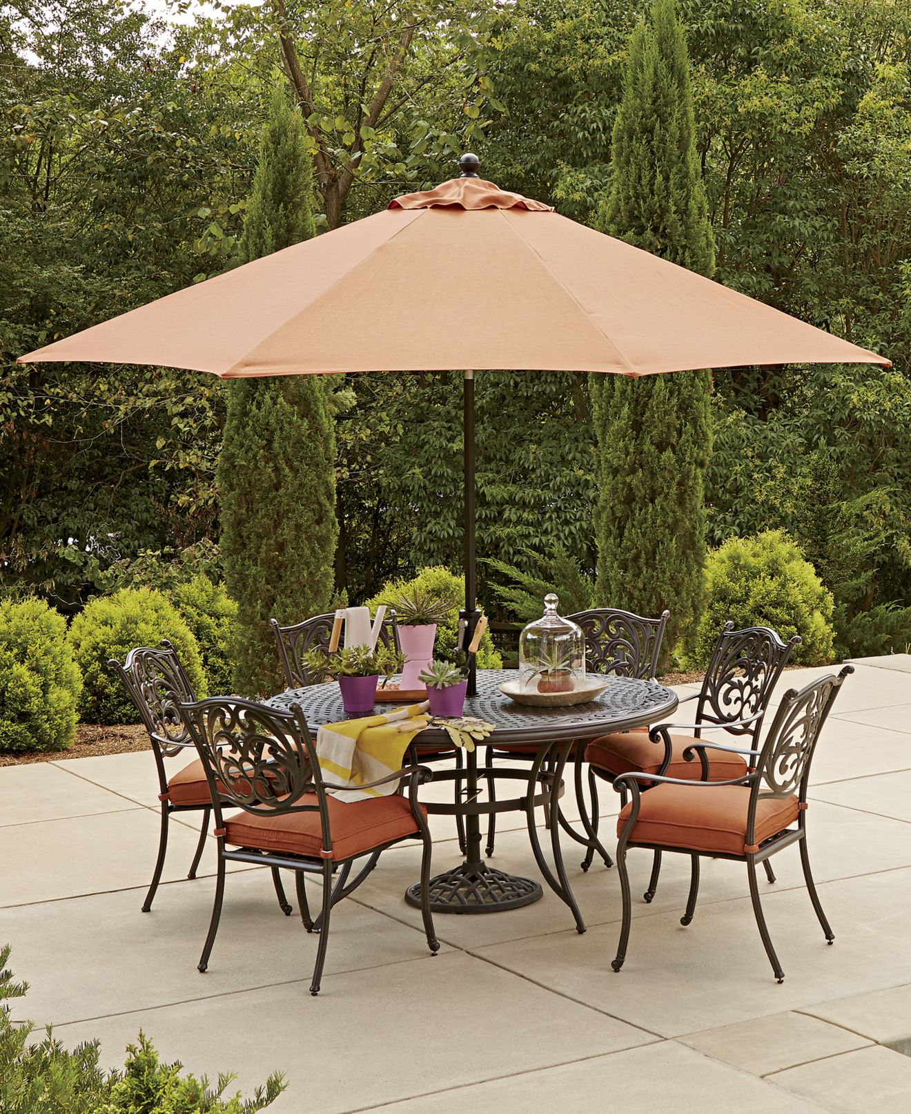 Metal Patio Umbrella Table Modern Patio & Outdoor