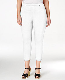 Style & Co Plus Size Pull-On Capri Leggings, Created for Macy's