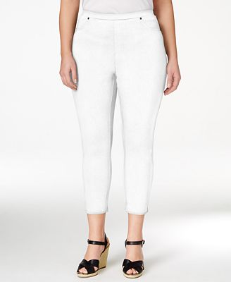 Style & Co Plus Size Pull-On Capri Leggings, Created for Macy's ...
