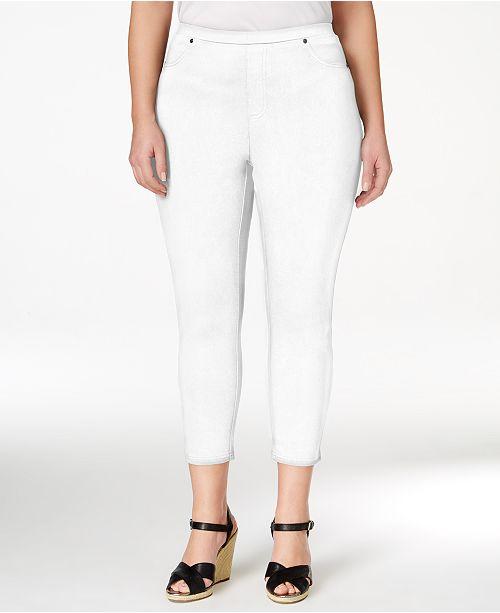 Style & Co Plus Size Pull-On Capri Leggings, Created for Macy's