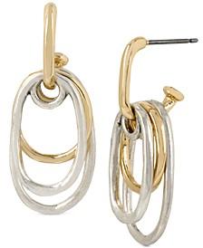Two-Tone Multi-Oval Drop Earrings