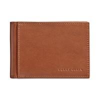 Perry Ellis Portfolio Men's Leather Front-Pocket RFID Wallet (Brown)