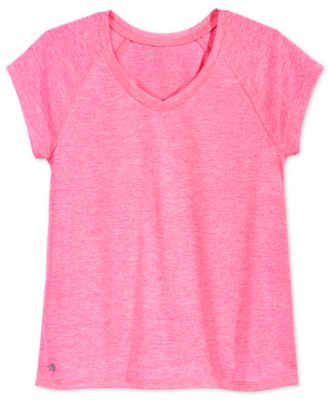 Image of Ideology Heathered V-Neck T-Shirt, Big Girls (7-16), Only at Macy's