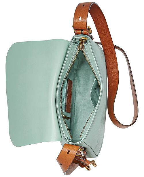 0afcca688f Fossil Harper Leather Small Saddle Crossbody   Reviews - Handbags ...