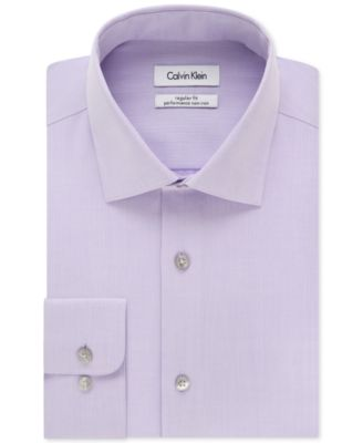 Image of Calvin Klein STEEL Men's Classic-Fit Non-Iron Performance Solid Dress Shirt