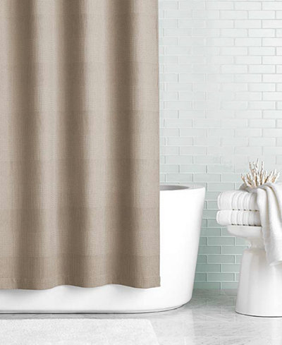 Hotel Collection 72 X 84 Extra Long Waffle Knit Shower