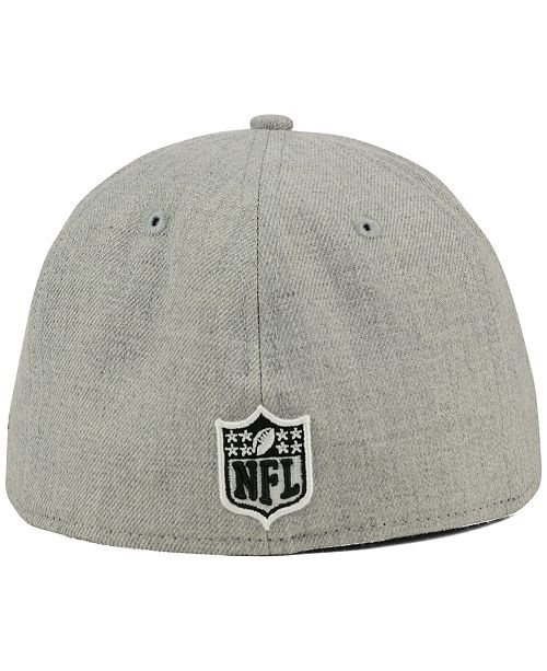 ... New Era San Francisco 49ers Heather Black White 59FIFTY Fitted Cap ... 9375866c6