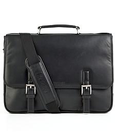 Manhattan Leather Single Gusset Laptop Briefcase