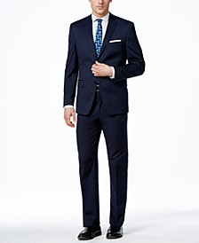 Men's Traveler Navy Solid Slim-Fit Suit Separates, Created for Macy's