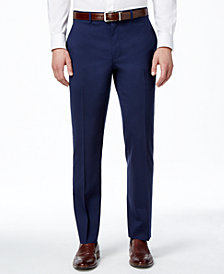 Lauren Ralph Lauren Navy Solid Total Stretch Slim-Fit Pants