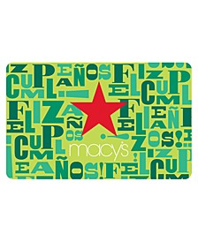 Happy Birthday/Feliz Cumpleaños E-Gift Card
