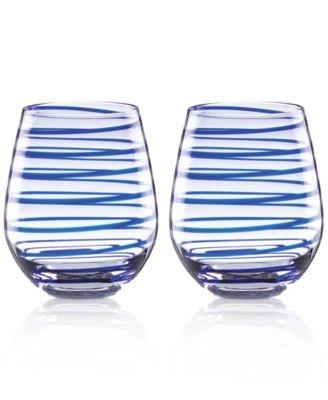 Charlotte Street Collection 2-Pc. Stemless Wine Glasses Set