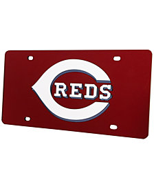 Rico Industries Cincinnati Reds Acrylic Laser Tag License Plate Cover