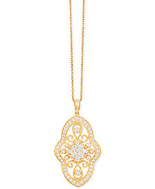 Le Vian Vanilla Estate Diamond Pendant Necklace (9/10 ct. t.w.) in 14k Gold