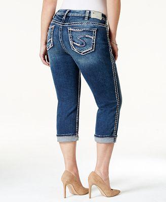 Silver Jeans Plus Size Suki Capri Jeans - Jeans - Plus Sizes - Macy&39s