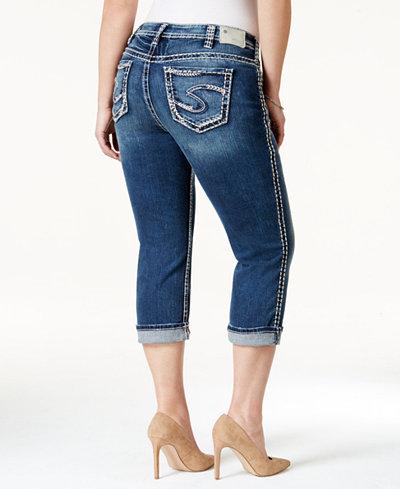Silver Jeans Plus Size Suki Capri Jeans - Jeans - Plus Sizes - Macy's