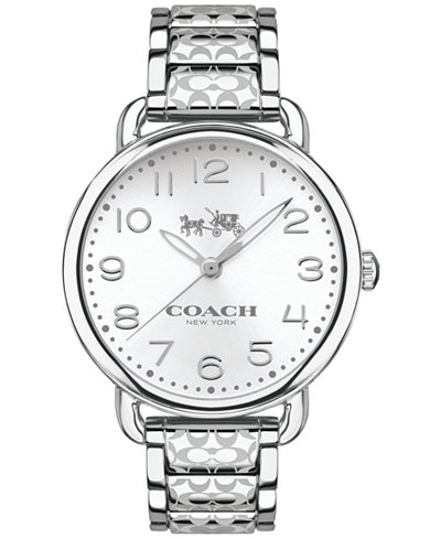 COACH WOMEN'S DELANCEY STAINLESS STEEL BRACELET WATCH 36MM 14502495