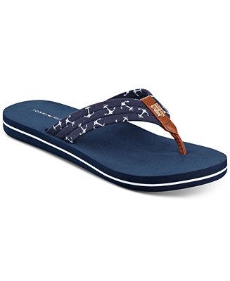 tommy hilfiger women 39 s cafe anchors flip flop sandals sandals. Black Bedroom Furniture Sets. Home Design Ideas