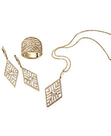 D'Oro Collection by EFFY Diamond Leaf-Inspired Geometric Jewelry