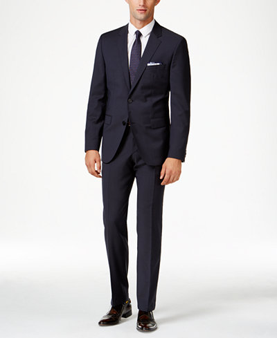HUGO Men's Navy Extra Slim-Fit Suit Separates - Suits & Suit ...