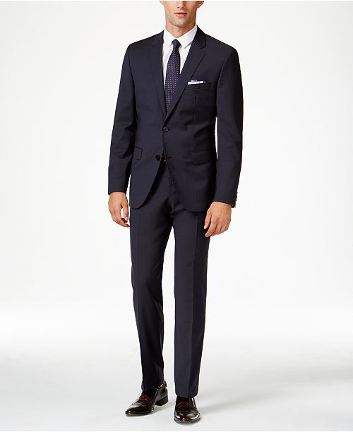 Hugo Boss HUGO Men's Navy Extra Slim-Fit Suit Separates